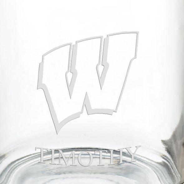 University of Wisconsin 13 oz Glass Coffee Mug - Image 3