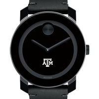 Texas A&M Men's Movado BOLD with Leather Strap
