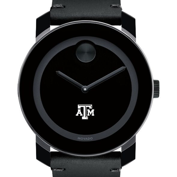 Texas A&M University Men's Movado BOLD with Leather Strap