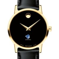 Seton Hall Women's Movado Gold Museum Classic Leather