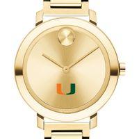 University of Miami Women's Movado Gold Bold 34