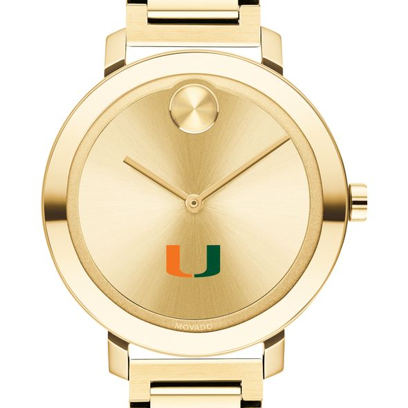 University of Miami Women's Movado Gold Bold 34 - Image 1