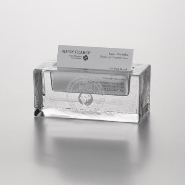 George Washington Glass Business Cardholder by Simon Pearce - Image 1