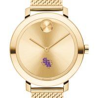 SFASU Women's Movado Bold Gold with Mesh Bracelet