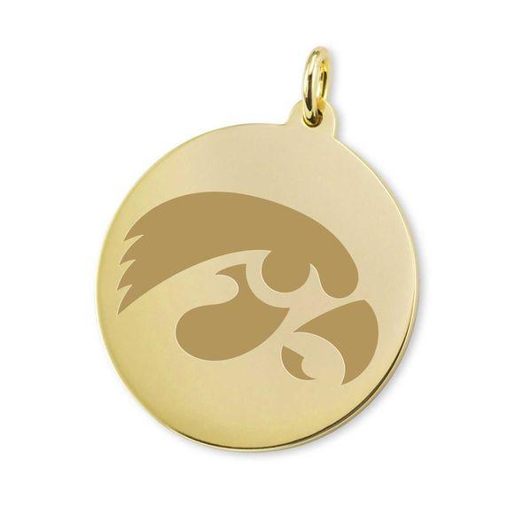 Iowa 14K Gold Charm