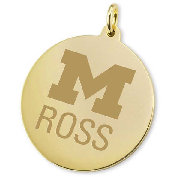 Michigan Ross 14K Gold Charm - Image 2
