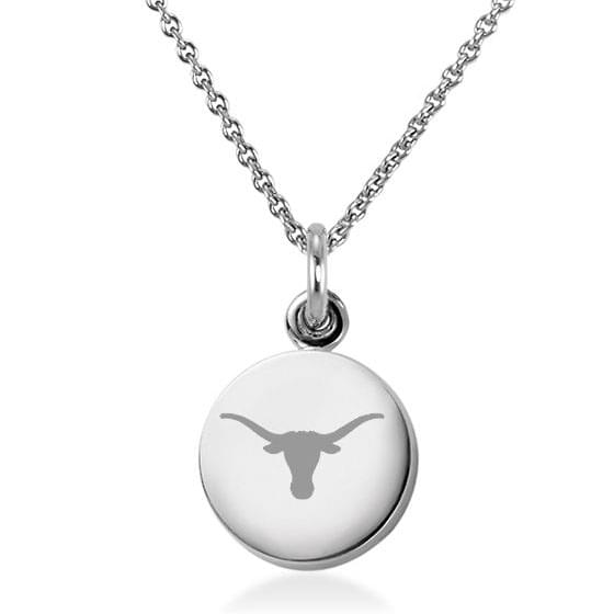 University of Texas Necklace with Charm in Sterling Silver