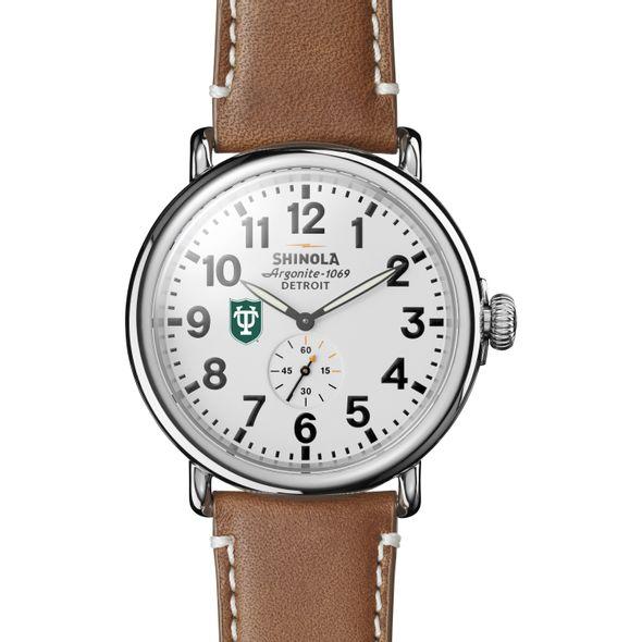 Tulane Shinola Watch, The Runwell 47mm White Dial - Image 2