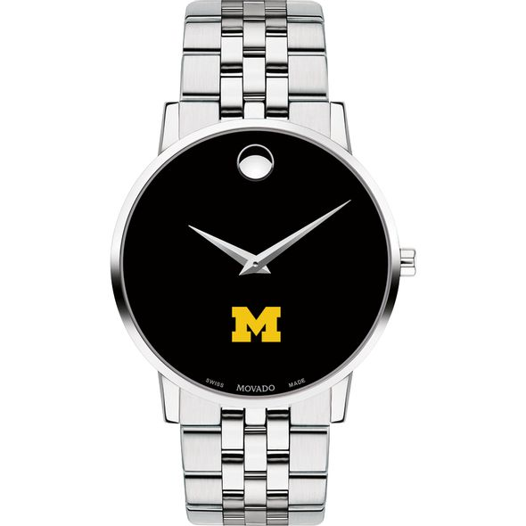 University of Michigan Men's Movado Museum with Bracelet - Image 2