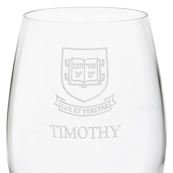 Yale University Red Wine Glasses - Set of 4 - Image 3