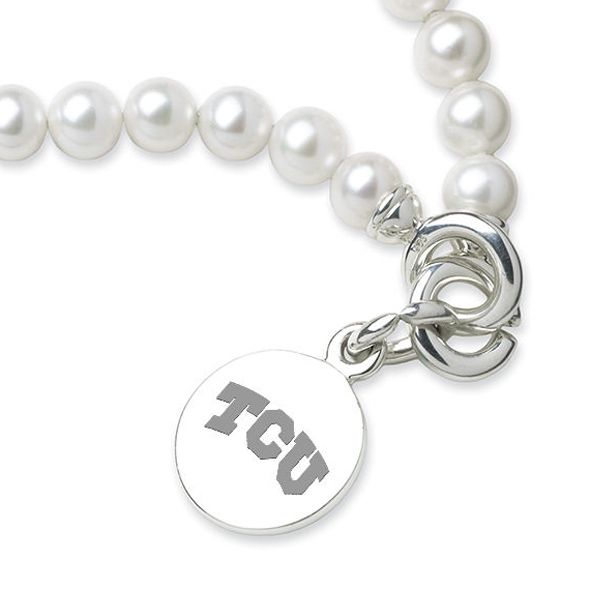 TCU Pearl Bracelet with Sterling Charm - Image 2