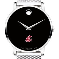 Washington State University Men's Movado Museum with Mesh Bracelet