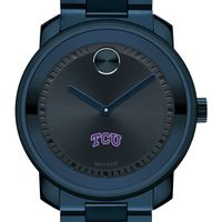 Texas Christian University Men's Movado BOLD Blue Ion with Bracelet
