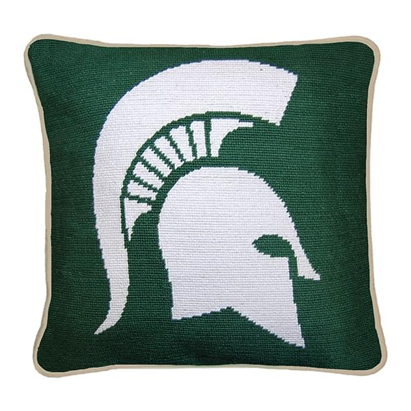 Michigan State Handstitched Pillow - Image 1
