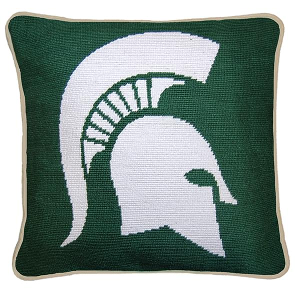 Michigan State Handstitched Pillow - Image 2