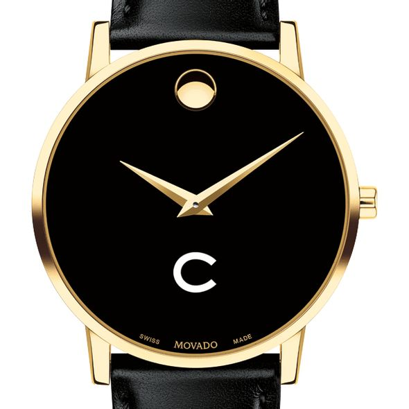 Colgate University Men's Movado Gold Museum Classic Leather