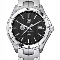 USMMA TAG Heuer Men's Link Watch with Black Dial