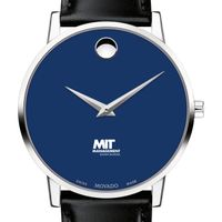 MIT Sloan School of Management Men's Movado Museum with Blue Dial & Leather Strap