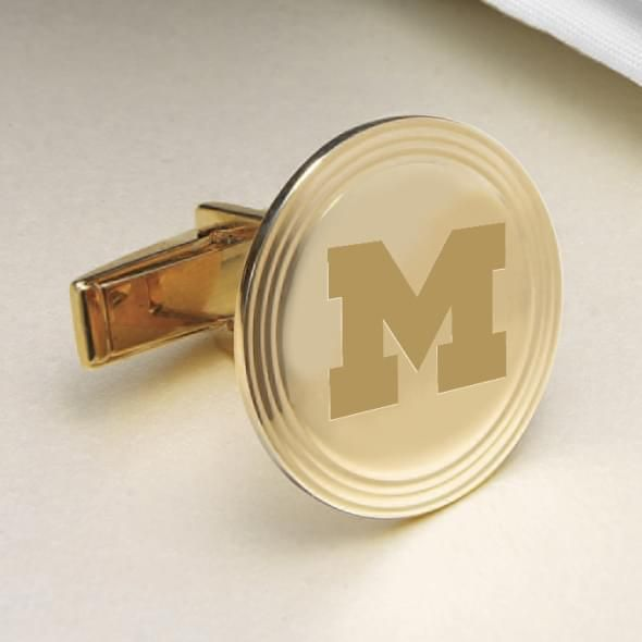 Michigan 14K Gold Cufflinks - Image 2