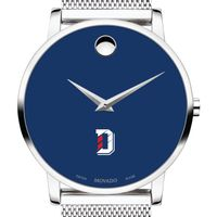 Davidson College Men's Movado Museum with Blue Dial & Mesh Bracelet