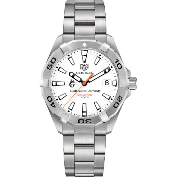 Northeastern Men's TAG Heuer Steel Aquaracer - Image 2