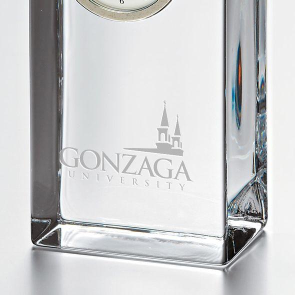 Gonzaga Tall Glass Desk Clock by Simon Pearce - Image 2