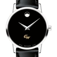 George Washington Women's Movado Museum with Leather Strap
