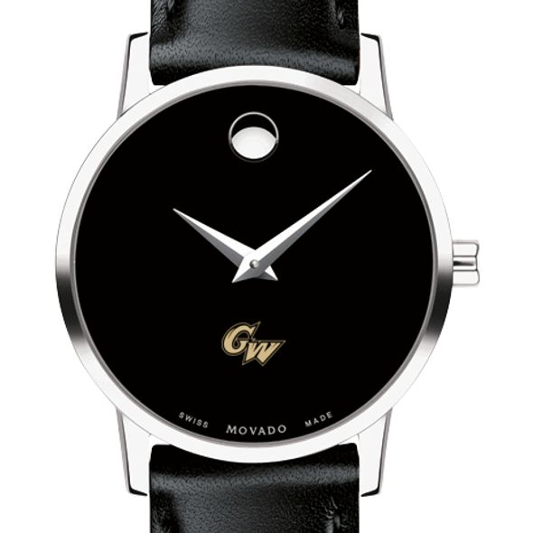 George Washington University Women's Movado Museum with Leather Strap