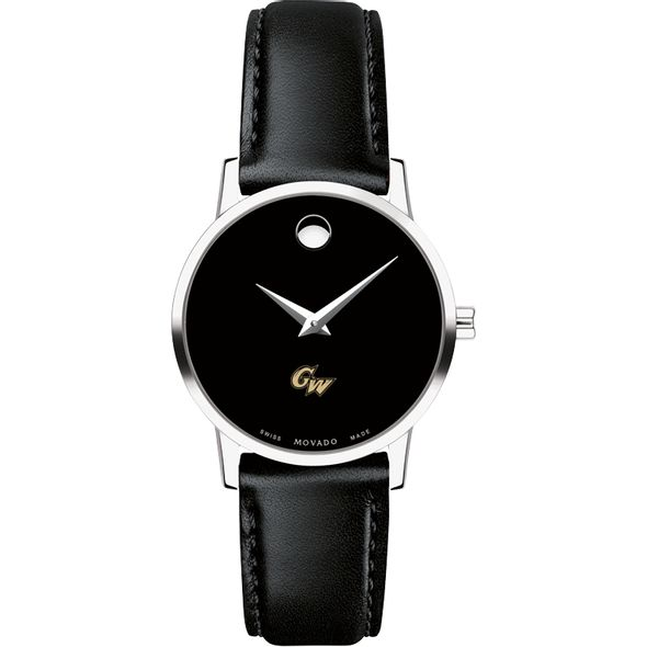 George Washington University Women's Movado Museum with Leather Strap - Image 2