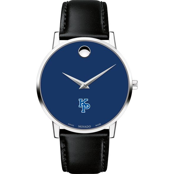 US Merchant Marine Academy Men's Movado Museum with Blue Dial & Leather Strap - Image 2