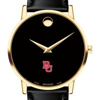 Boston University Men's Movado Gold Museum Classic Leather