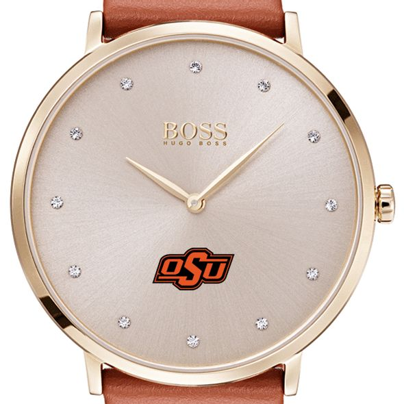 Oklahoma State University Women's BOSS Champagne with Leather from M.LaHart