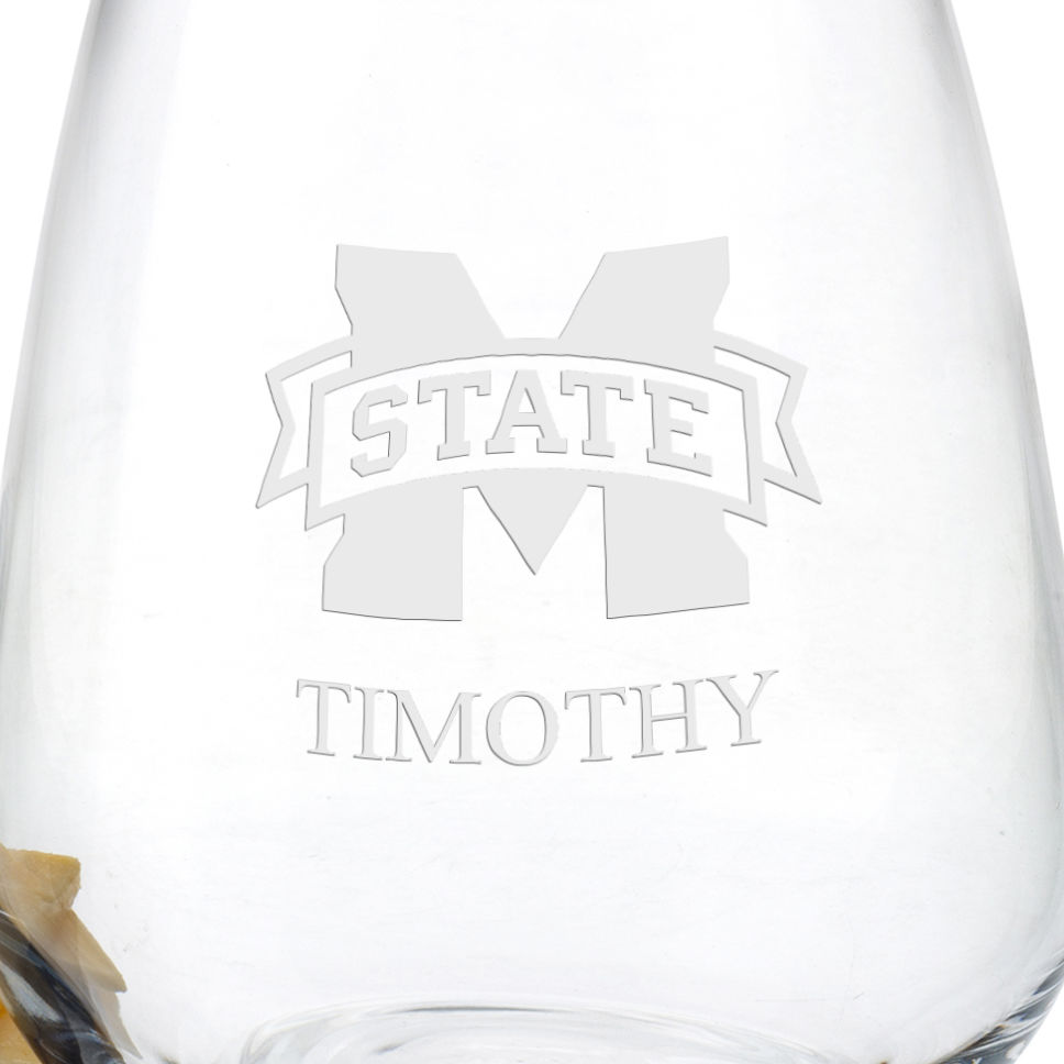 Mississippi State Stemless Wine Glasses - Set of 2 - Image 3