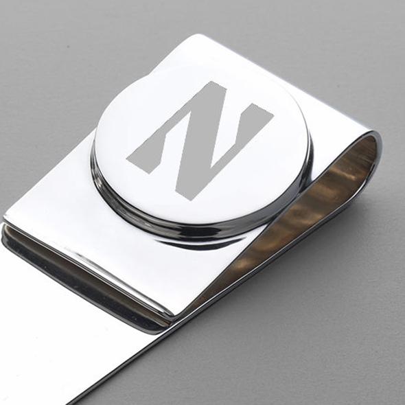 Northwestern Sterling Silver Money Clip - Image 2
