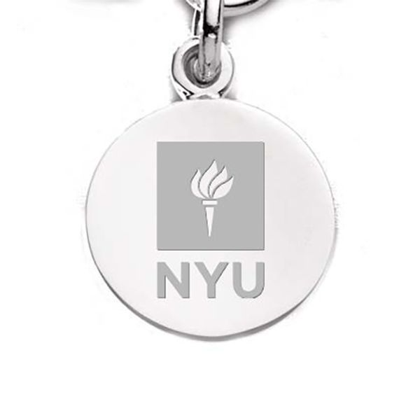 NYU Sterling Silver Charm - Image 1