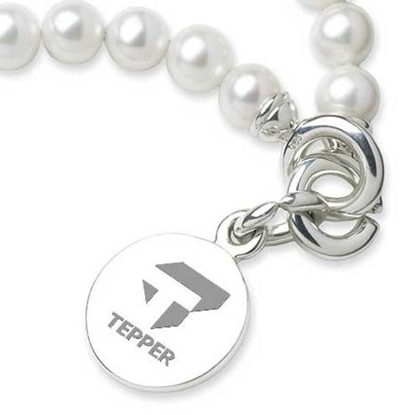 Tepper Pearl Bracelet with Sterling Silver Charm - Image 2
