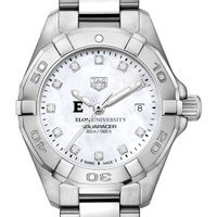 Elon Women's TAG Heuer Steel Aquaracer with MOP Diamond Dial