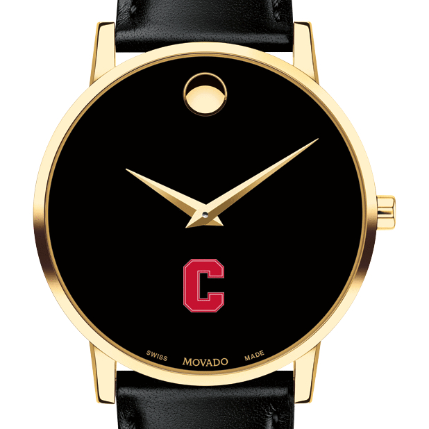 Cornell Men's Movado Gold Museum Classic Leather
