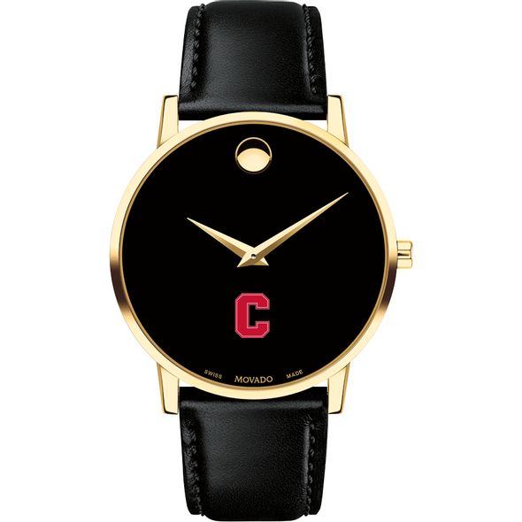Cornell University Men's Movado Gold Museum Classic Leather - Image 2