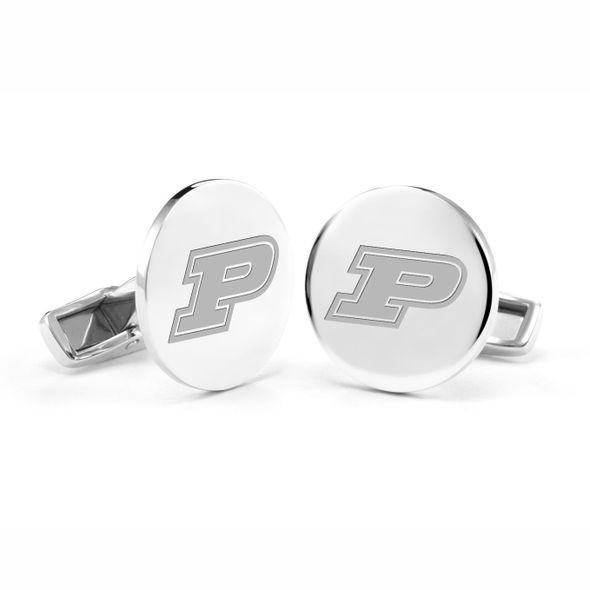 Purdue University Cufflinks in Sterling Silver