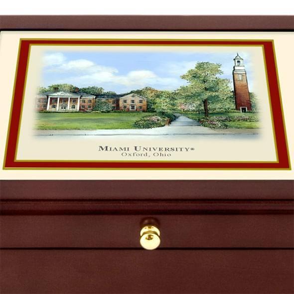Miami University Eglomise Desk Box - Image 2