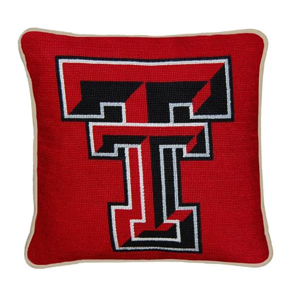Texas Tech Handstitched Pillow