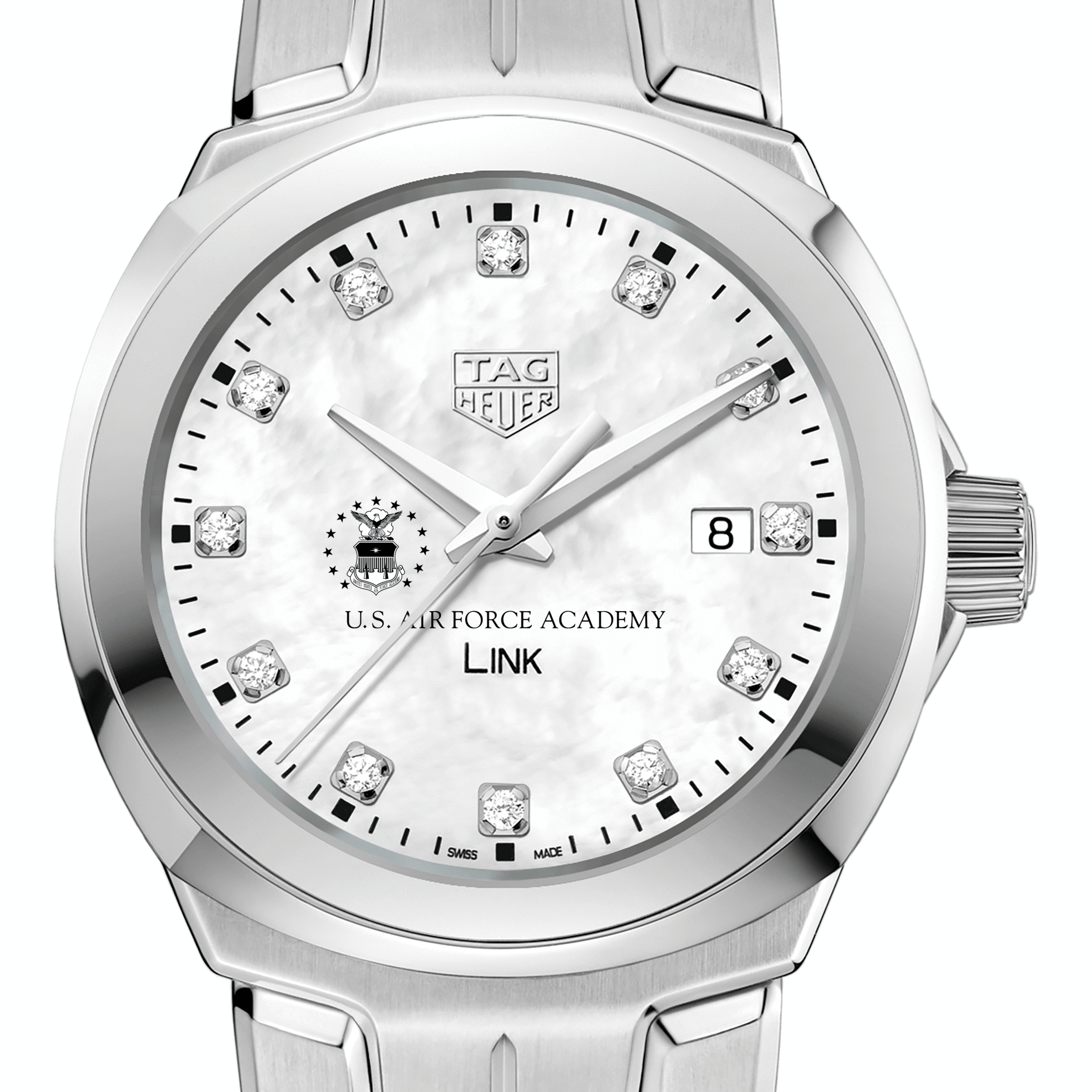 US Air Force Academy TAG Heuer Diamond Dial LINK for Women