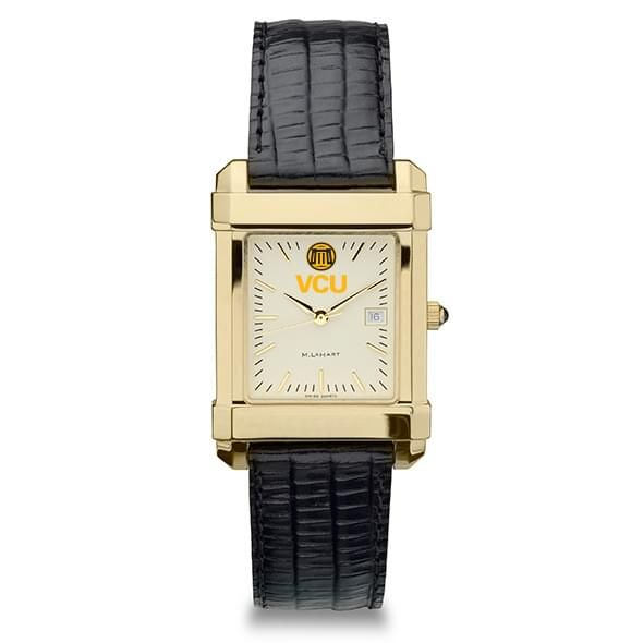 VCU Men's Gold Quad with Leather Strap - Image 2