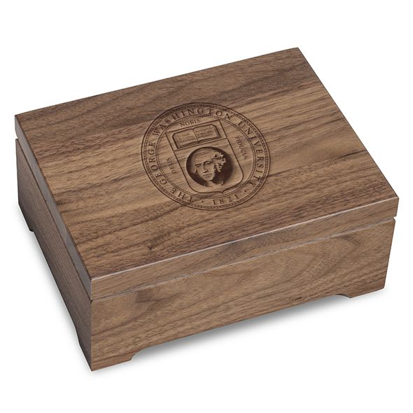 George Washington University Solid Walnut Desk Box - Image 1