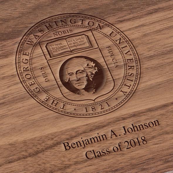 George Washington University Solid Walnut Desk Box - Image 3