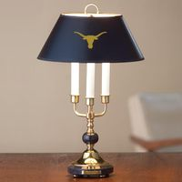 University of Texas Lamp in Brass & Marble