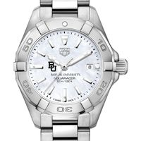 Baylor University Women's TAG Heuer Steel Aquaracer w MOP Dial