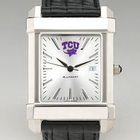 Texas Christian University Men's Collegiate Watch with Leather Strap