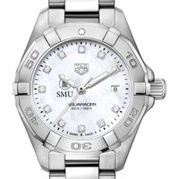Southern Methodist University W's TAG Heuer Steel Aquaracer w MOP Dia Dial